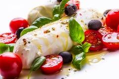 Caprese caprese sallad italiensk sallad Medelhavs- sallad lyx för livsstil för utmärkt mat för carpacciokokkonst italiensk Medelh Arkivbild