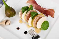 Caprese with figs Stock Photos
