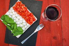 caprese flag horizontal left Stock Photography