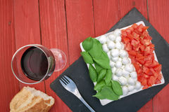 Caprese flag horizontal right up Royalty Free Stock Images