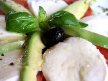 caprese insalata för antipasti Arkivbild