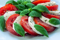 Caprese - italian food Royalty Free Stock Photos