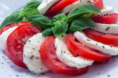 Caprese - italian food with background Royalty Free Stock Photography
