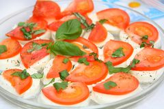 Caprese - Italian salad Royalty Free Stock Image