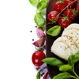 Caprese - Italian salad with tomatos and mozarella cheese Stock Image