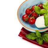 Caprese - Italian salad with tomatos and mozarella cheese Royalty Free Stock Images