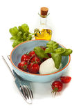 Caprese - Italian salad with tomatos and mozarella cheese Royalty Free Stock Photography