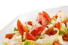 Caprese italienischer Salatabschluß oben Lizenzfreies Stockfoto