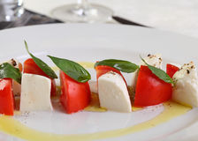 Caprese Mozzarella and tomatoes Royalty Free Stock Image