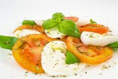 Caprese Mozzarella und Tomate Stockbilder