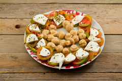 Caprese and mushrooms Royalty Free Stock Photography