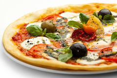Caprese Pizza royalty free stock photos