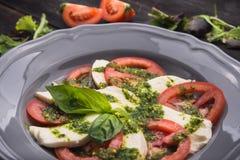 Caprese sałatka z pomidorem i mozzarellą Obraz Royalty Free