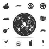 caprese sałatkowa ikona Szczegółowy set włoskie foods ilustracje Premii ilości graficznego projekta ikona Jeden inkasowe ikony ilustracja wektor