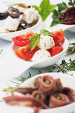 Caprese salad appetizer Stock Photos