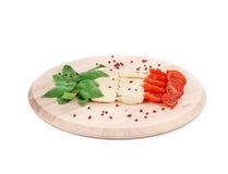 Caprese salad as italian flag. Stock Image