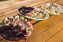 Caprese salad with betterave Royalty Free Stock Photos