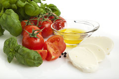 Caprese salad ingredients Royalty Free Stock Photography