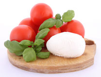 Caprese salad ingredients Royalty Free Stock Photo
