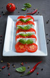 Caprese salad with ingredients Stock Image