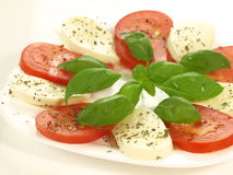 Caprese salad, isolated Stock Images