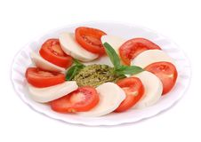 Caprese salad. Royalty Free Stock Image