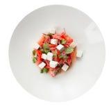 Caprese salad. Isolated on white background Stock Photos