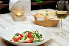 The Caprese salad Stock Images