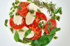 The Caprese salad Royalty Free Stock Images