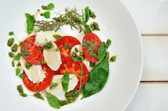 The Caprese salad Royalty Free Stock Photo