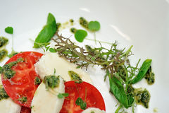 The Caprese salad Royalty Free Stock Image
