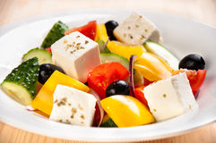 Caprese salad with mozarella cheese, tomatoes, Stock Photo