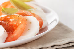 Caprese salad with mozzarella and tomatoes Stock Photography