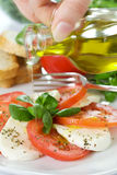 Caprese Salad with oil Stock Images