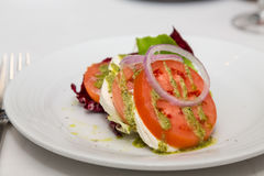 Caprese Salad with Onions Stock Photography