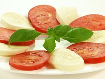 Caprese salad on plate,  Stock Images