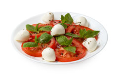 Caprese salad on plate Royalty Free Stock Photography