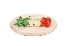 Caprese salad on platter. Stock Images