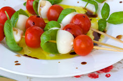 Caprese salad skewers Royalty Free Stock Photo