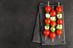 Caprese salad on sticks Royalty Free Stock Image