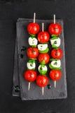 Caprese salad on sticks Stock Image