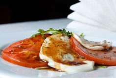 Caprese Salad - Tomatoes, Mozzarella and Arugula Stock Images
