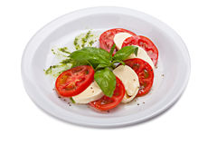 Caprese salad -  traditional italian food. Royalty Free Stock Image