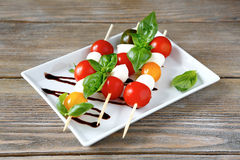 Caprese Salad With Cherry Tomatoes Royalty Free Stock Images