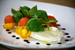 Caprese Salat Stockfoto