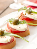 Caprese Sandwich Royalty Free Stock Photography