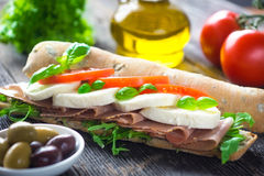 Caprese Sandwich Royalty Free Stock Photo