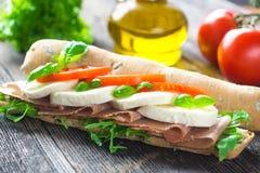 Caprese Sandwich Stock Photography