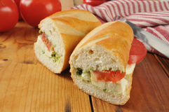 Caprese sandwich Stock Photo