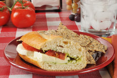 Caprese sandwich Royalty Free Stock Photos